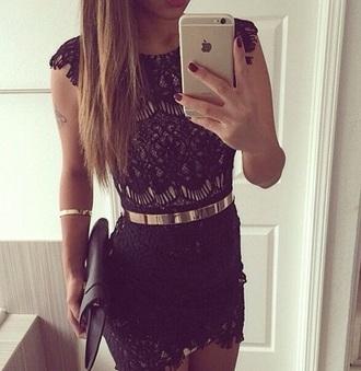dress lace dress pretty fashion