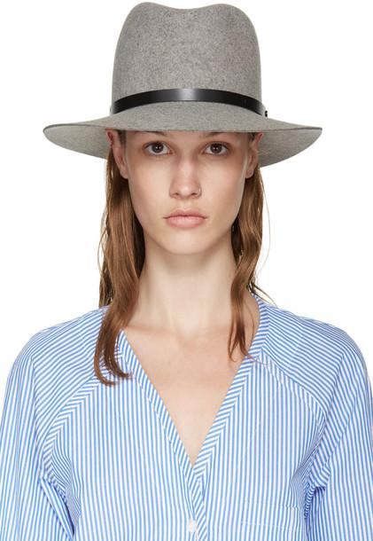 fedora wool grey hat