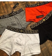 shorts,versace,boxes,menswear,red,black,white,grey