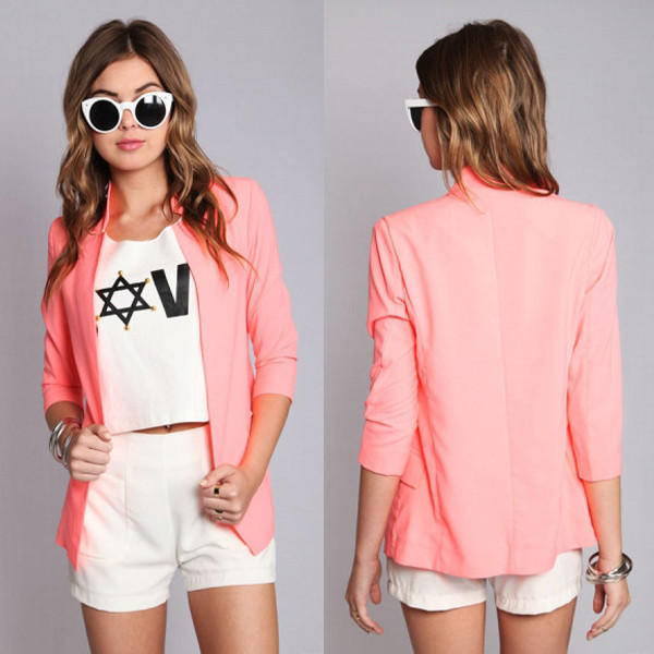 jacket neon pink sylvi label