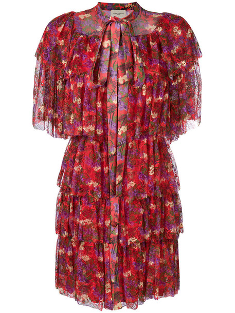Giuseppe Di Morabito dress women floral silk red
