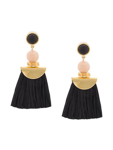 LIZZIE FORTUNATO JEWELS women earrings gold black jewels