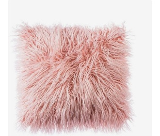 home accessory pink and fluffy cushion