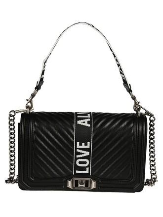 love quilted bag crossbody bag chevron black