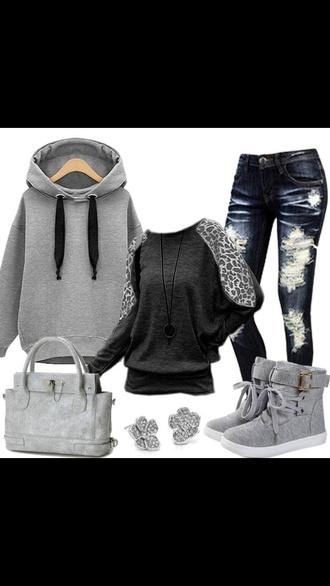 sweater hoodie sneakers shoes shirt