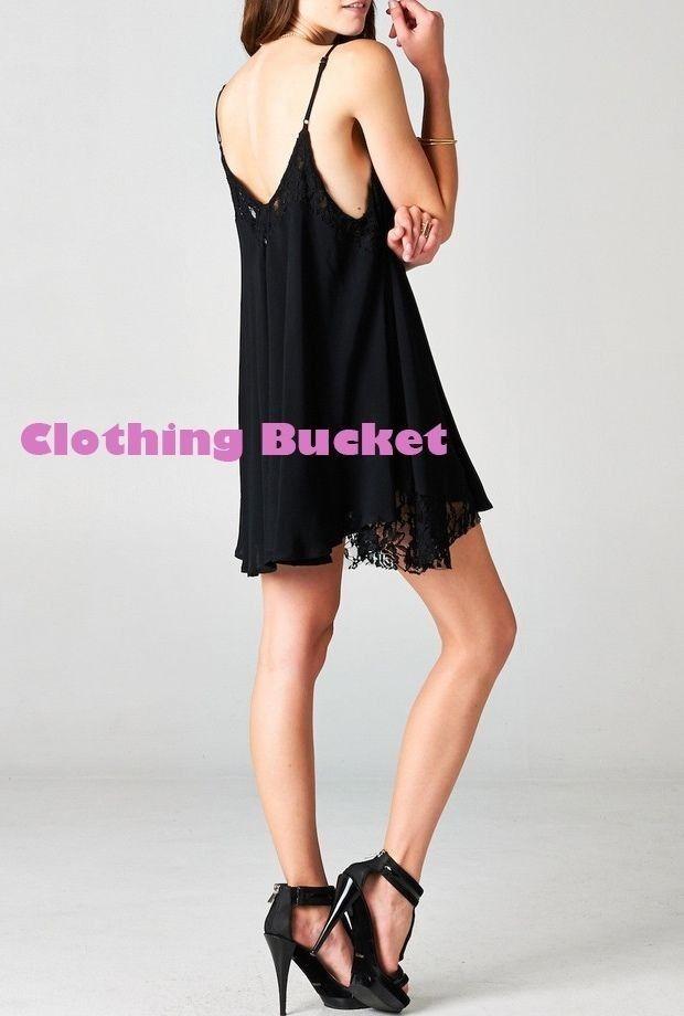 Lace trim short mini black dress · clothingbucket · online store powered by storenvy