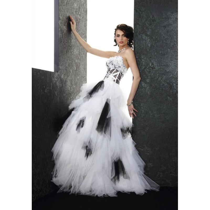Pia Benelli Prestige, Turban blanc et noir - Superbes robes de mariée pas cher   Robes En solde   Divers Robes de mariage blanc