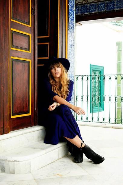 fringe and frange blogger maxi dress dress shoes hat