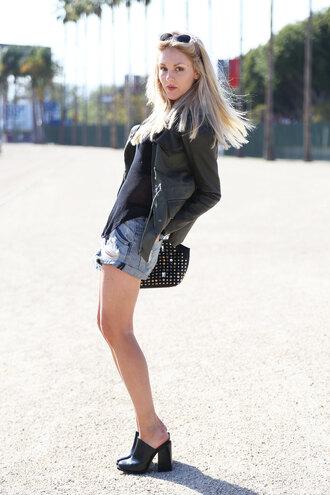 cheyenne meets chanel shoes sunglasses bag t-shirt jacket shorts