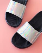 shoes,metallic shoes