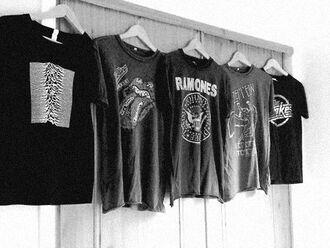 t-shirt band t-shirt ramones the strokes rolling stones t shirt