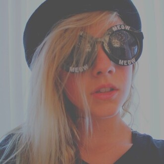sunglasses black sunglasses meow sunglasses