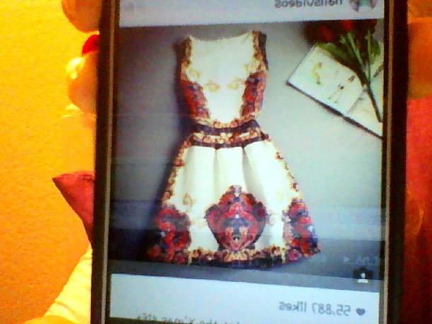 dress red pattern blue patterned dress off-white dress short dress