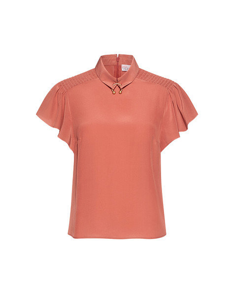 RED VALENTINO blouse rose silk top