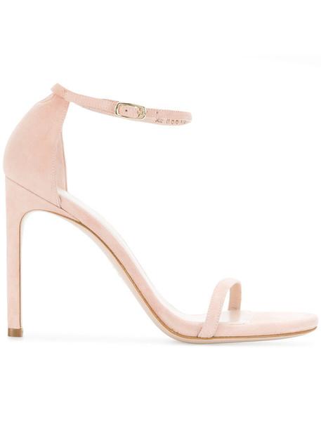 STUART WEITZMAN women sandals leather nude suede shoes