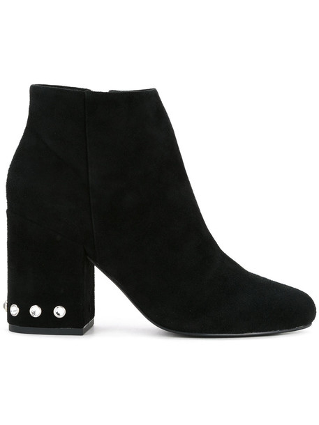 Senso women boots leather suede black shoes