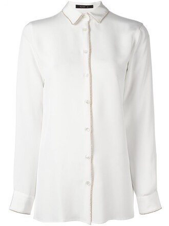 shirt velvet white top
