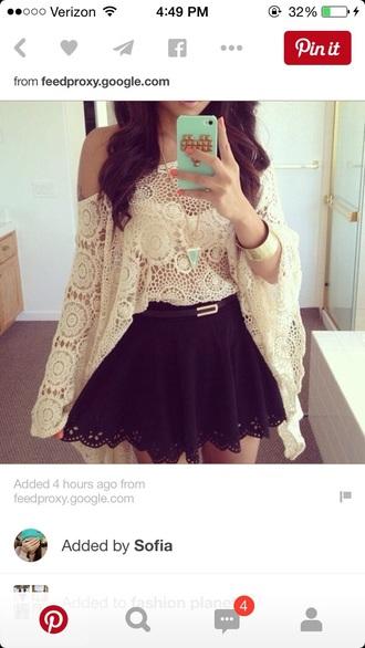 top shirt boho shirt lace top crop tops crop crochet off the shoulder sweater boho chic