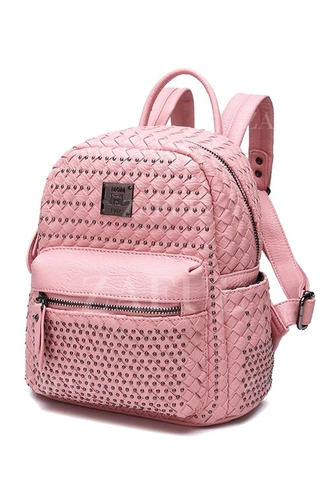 bag pink pink bag pink backpack pastel pink pastel pink backpack studded studs studded backpack backpack zaful kawaii grunge back to school tumblr school bag kawaii grunge studded bag
