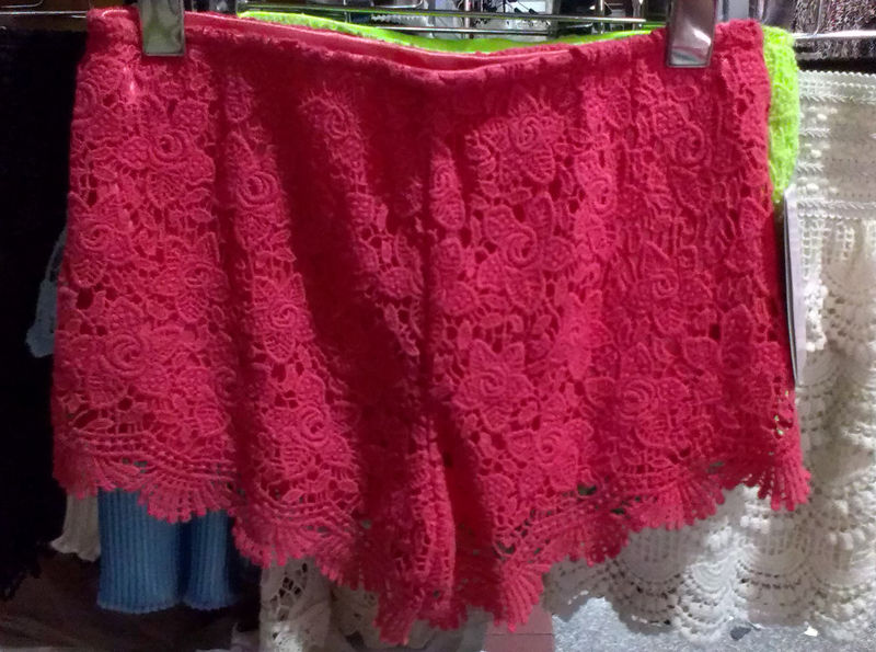 Vintage Sexy Women Crochet Lace Shorts Hot Pants Skirt Elastic Waist Rose J66 | eBay