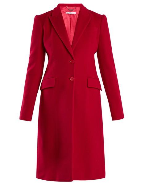 Givenchy coat wool dark pink