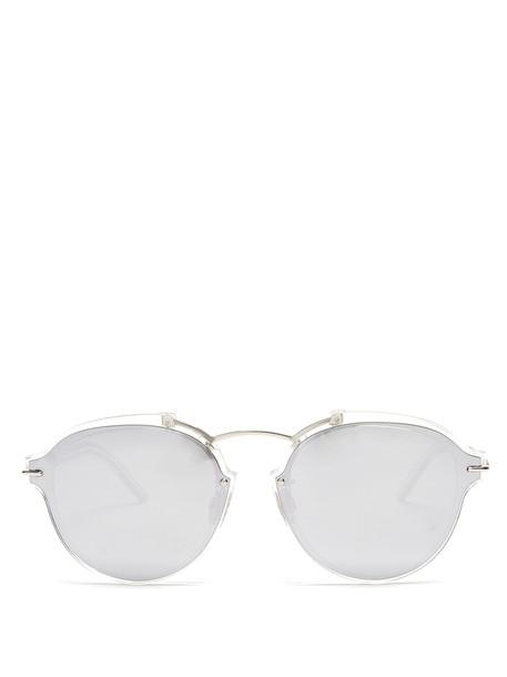 dior sunglasses silver
