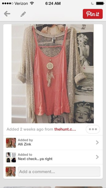 sweater cardigan knitted cardigan pink tank top pink tank pull-over pullover beige cardigan top