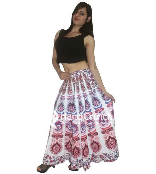 fb5575e27 skirt, rapron, indian rapron, women rapron, printed rapron, mandala ...