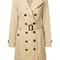 Burberry - classic double breasted trench - women - cotton - 8, nude/neutrals, cotton