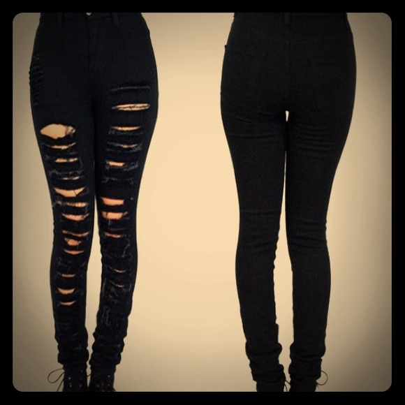 off Bullhead Denim - Pacsun high waisted distressed black jeans ...