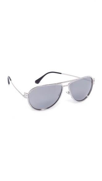 sunglasses aviator sunglasses silver grey