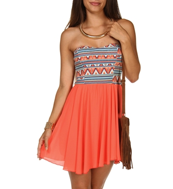 Aztec Babydoll Dress