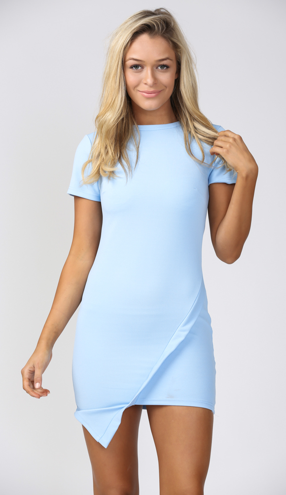 You and me tonight bodycon dress in baby blue