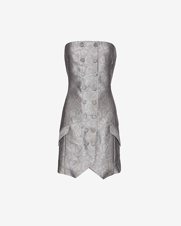 Jenni Kayne EXCLUSIVE Snake Print Strapless Dress | Shop IntermixOnline.com