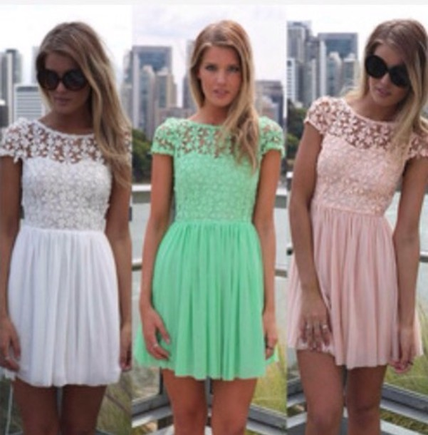 dress white lace dress