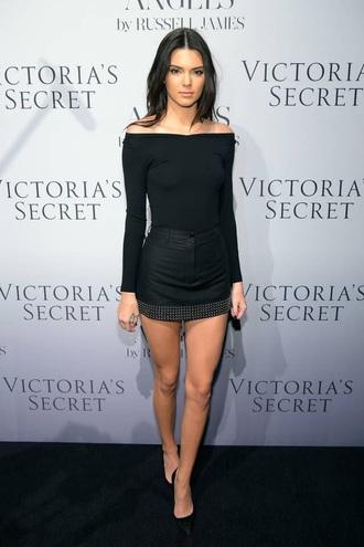 skirt kendall jenner black mini skirt
