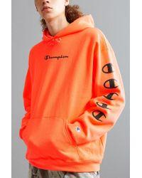 50554b24 Champion | Orange Repeat Eco Hoodie Sweatshirt for Men | Lyst