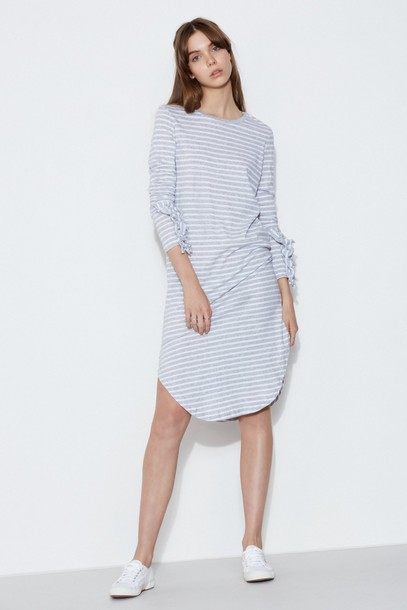 The fifth dress long sleeve dress long grey