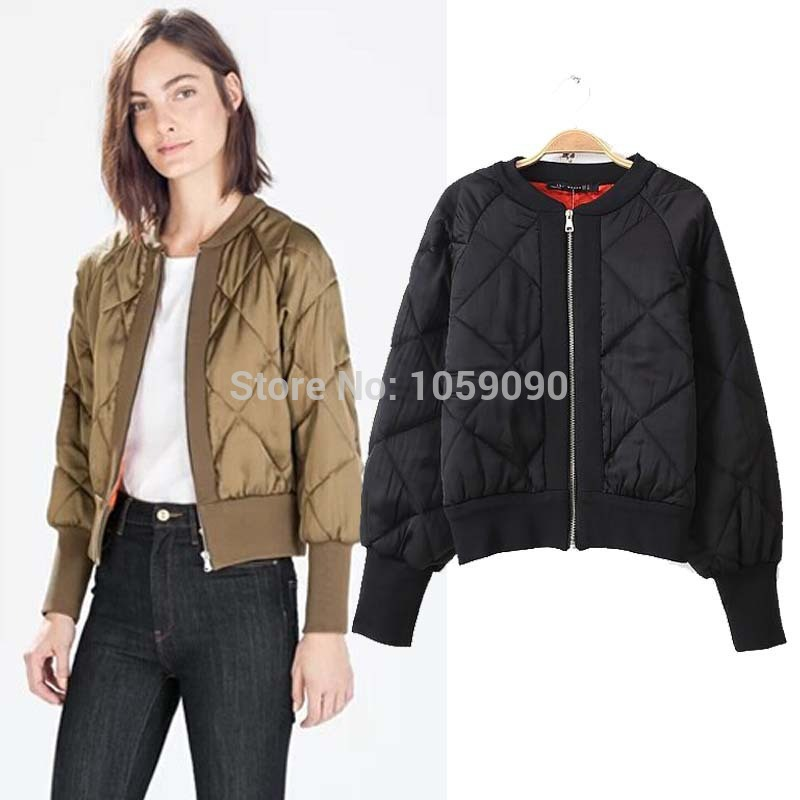 Aliexpress.com : Buy Fashion Brand Style ZAA Womens New Winter O neck Cotton Quilting Quilted Jacket Short Padded Bomber Jacket Coat Pilots Outerwear from Reliable coat button suppliers on Vogue Official Online Shop