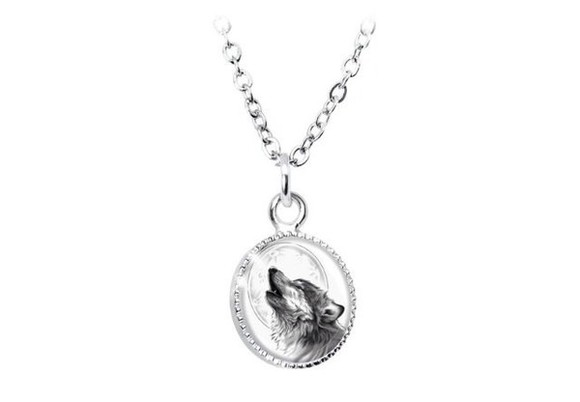 adorable necklace jewels wolf silver cool jewelry necklaces