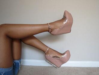 shoes high heels beige high heels unique high heels jeffery cambell high heel wedges