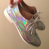 shoes,oxfords,holographic