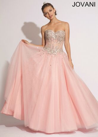 dress light pink dress jovani prom dress