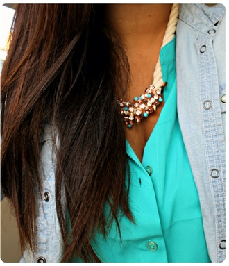 jacket jewels blouse blue shirt blue blouse vibrant blue plain shirt coral