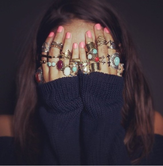 jewels cross hipster boho ring indie girl