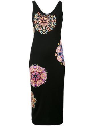 dress midi dress women midi print black mandala