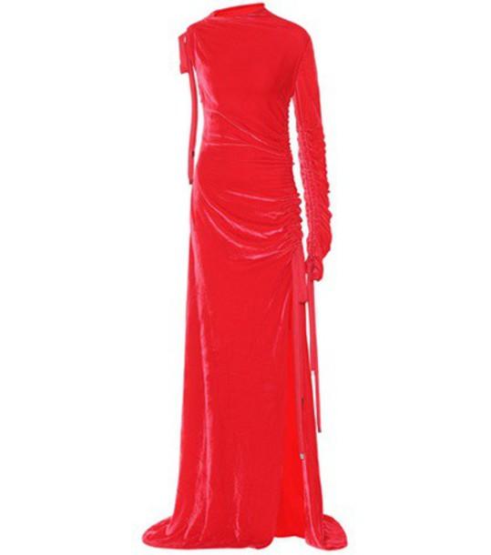 Monse gown velvet red dress