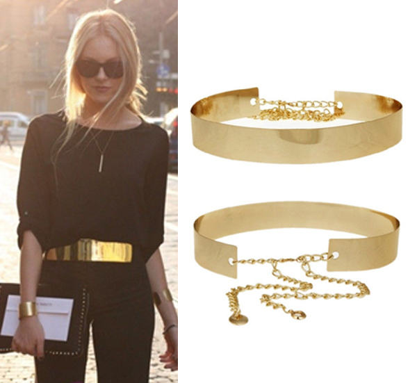 Chic gold metal belt · nouveau craze · online store powered by storenvy