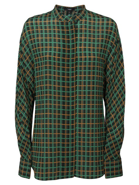 theory shirt perfect multicolor top