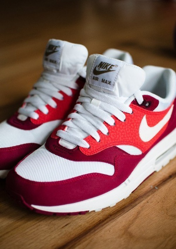 shoes nike air max sportswear red white nike sneakers